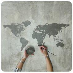 . ...ciudadanos de un lugar llamado mundo.... . chalkpaint, massilla i paper de seda. . chalkpaint, masilla y papel de seda. . #delafeylasfloresazules #delaféylasfloresazules #solaç #solacentre #solacentre_mollerussa #art #arte #pintura #painting #canvas #canvasart #chalkpaint #griselephant #griselefante #blancoantiguo #neutro #artisteando #món #mundo #world #theworld