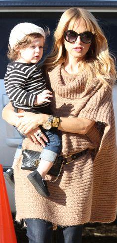 October 30, 2012 - Rachel Zoe and Skyler, Mr. Bones Pumpkin Patch in West Hollywood