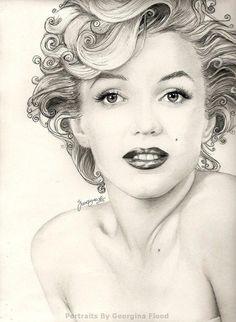 Marilyn Monroe by georgina flood