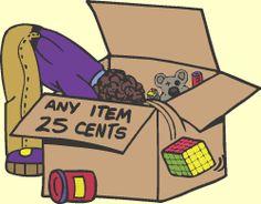 Yard sale cheap box