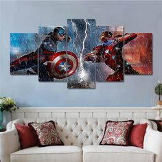 Wholesale Dropshipping 5 Pieces Wall Art Canvas Prints Oil Painting for Living Room Bedroom Spray Painted Pictures No Frame