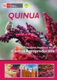 Título: Quinua, principales aspectos de la cadena agroproductiva /  Autor: Perú. Ministerio de Agricultura. Dirección General de Promoción de la Competitividad / Ubicación: FCCTP – Gastronomía – Tercer piso / Código:  G/PE/ 641.65655 P