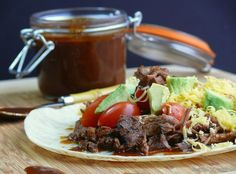 Slow Cooker Chile Colorado Style Beef has the flavor without all the work from NoblePig.com.