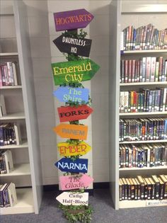 Get Inspired by These Amazing School Library IdeasYou can find School libraries and more on our website.Get Inspired by These Amazing School Library Ideas School Library Decor, School Library Displays, Middle School Libraries, Elementary School Library, Library Themes, Class Library, Library Activities, Elementary Schools, Library Ideas
