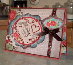 You & Me Valentine's Day Card  Stampin' Up P.S. by WhimsyArtCards, $6.00