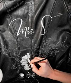 Hand painted leather jacket by Painted Leather Jacket, Painting Leather, Boho Bride, More Pictures, Bridal Jackets, Bomber Jacket, Hand Painted, Stay Tuned, Projects
