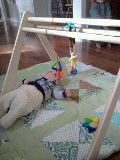 Handmade Wooden Baby Gym