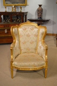 A French Late 19th Century Gilt-Wood Armchair