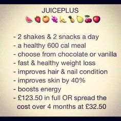 Juiceplus weightloss program that brings real results!