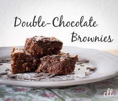 """Ich hab schon ein paar Brownies-Rezepte ausprobiert, aber das hier ist echt das Beste bisher. Ich hatte schon überlegt, sie """"Best-Brownies-Ever!"""" zu nennen, aber vielleicht finde ich ja irgendwann ...   creative-little-things.de"""