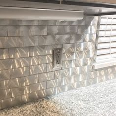 Industrial Silver Aluminum Tile Give your kitchen backsplash that stylish modern look with our Industrial Aluminum tile. Cheap Backsplash Tile, Modern Kitchen Backsplash, Decorative Tile Backsplash, Stainless Backsplash, Mosaic Tiles, Wall Tile, Turquoise Tile, Bathroom Interior, Industrial