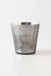 Silvered Votive, Faceted