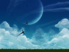 Sky Background by Kamikaye on DeviantArt