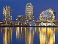 False Creek Science World,  downtown Vancouver, British Canada