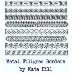 Silver Filigree Border Set