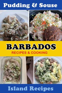 Learn to make the best Pudding and Souse in Barbados with our recipe. Barbados' longest traditional Saturday lunch for many Bajans. The souse is essentially pickled pork and the pudding is steamed sweet potato with chunks of breadfruit. Sweet Potato Pudding, Steamed Sweet Potato, Steamed Pudding Recipe, Pudding Recipes, Souse Recipe, Bajan Recipe, Caribbean Recipes, Caribbean Food, Island Food