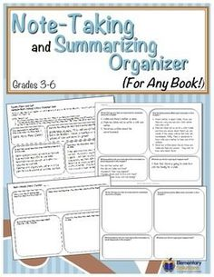 This FREE Note-Taking Chart is a simple graphic organizer to help students in grades 3-6 take notes either during or after reading a chapter of fiction!  A sample Note-Taking Chart has been completed for Chapter One of Sarah, Plain and Tall to use as an example.