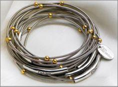 Piano Wire Bracelets - would love a set!