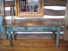 I would love to build an old farmhouse table out of reclaimed barn wood!