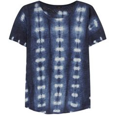 J.Crew Tie-dyed linen-jersey T-shirt
