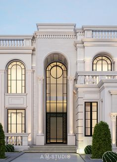 MR SARRY VILLA on Behance Classic House Exterior, Classic House Design, Modern Exterior House Designs, Dream House Exterior, Exterior Design, House Outside Design, House Front Design, Facade Architecture, Classical Architecture