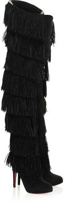 ShopStyle: Christian Louboutin Dolly Forever 120 fringed suede boots