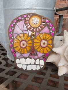Mosaic Skull Wall Art Day of the Dead Calavera by RestnPieces, $90.00