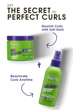 Looking for the secret to perfect curls? Layering two products is the key to beautiful, defined curls that will last. 1) Start with Curl Stretch Loosening Pudding to nourish and elongate natural curls without any crunch! 2) Apply Curl Renew Reactivating Milk Spray to hydrate and redefine curls throughout the day.