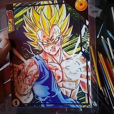 First card from eternal series is done.made by me. Ball Drawing, Dragon Ball Z, Goku, Drawings, Cards, Anime, Instagram, Artists, Dragon Dall Z