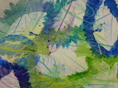The Calvert Canvas: Adventures in Middle School Art!: Layered Leaf Printing