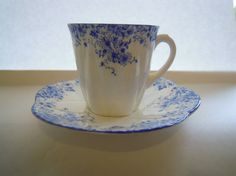 Vintage Teacup Shelley Dainty Blue Pattern by TallulahsVintage