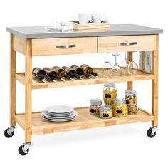 Rolling Kitchen Island, Kitchen Island Cart, Kitchen Islands, Kitchen Carts, Kitchen Ideas, Kitchen Reno, Kitchen Wood, Pantry Ideas, Kitchen Remodeling