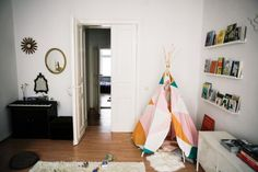 A Small Apartment in Berlin Mixes in a Bit of Children's Decor
