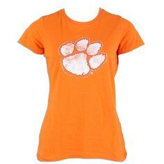 a8075c99b0c Clemson Tiger Ladies Krista Paw T-Shirt  clemson Clemson Baseball