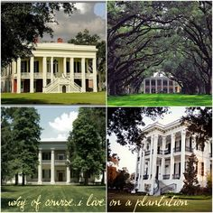 A trip I'd love to take with hubby--southern plantations + the south