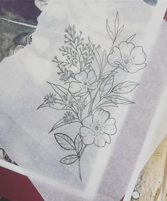 Wildflowers Sketch--pre tattoo.                                                                                                                                                                                 Más