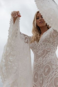 Romantic bohemian style wedding dresses by Spell Designs Romantic Bohemian Wedding Dresses, Country Wedding Dresses, Black Wedding Dresses, Wedding Gowns, Boho Bride, Wedding Ring, Wedding Bouquets, Ball Dresses, Ball Gowns