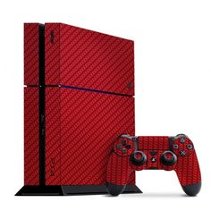 Slickwraps Playstation 4 Carbon Fiber Red Skins make it your own. Playstation 2, Consoles, Ps4 Skins, Video Game Rooms, Gaming Accessories, Ps4 Games, Video Game Console, Nintendo 3ds, Carbon Fiber