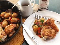 The Food Lab: Make This Crisp-Skinned Chicken and Roast Vegetables in One Cast Iron Skillet