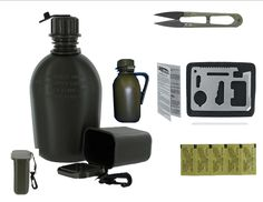 "Camping Packing :""VAS BUG OUT WATER and CANTEEN KIT - KATADYN 10 PACK WATER PURFICATION TABLETS W VAS BUG OUT BOX : 11N1 SURVIVAL TOOL : SURVIVAL SCISSORS : AND WATER CARD"" >>> For more information, visit now"