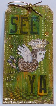 Making tags ....  This is one of the gorgeous gals from Doodle Dolls 1 set by Lost Coast Designs