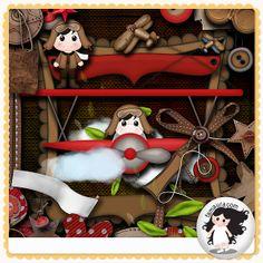 Kit - Pequeno Aviador by Fa Maura [FaMaura_KitPequenoAviador] - $4.90 : FaMaura.com - scrapshop