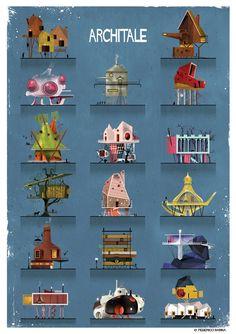 "Imaginative Italian illustrator and architect Federico Babina has unveiled his latest series, ARCHITALE, ""a tribute to the fairytale universe where..."