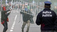 Brüksel'de yine onbinler hükümeti protesto etti