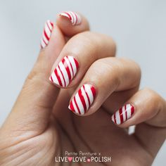 Candy Cane Nails | Holiday Nail Art Designs Too Pretty To Pass Up