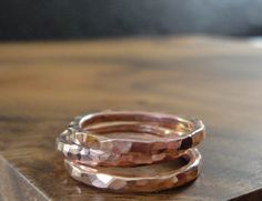 14K ROSE gold ring set   perfect wedding ring  by AngelflieDesign, $152.00