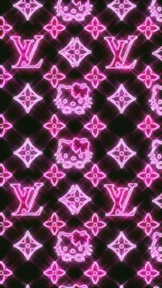 A pink sparkly hello kitty in LV aesthetic pic Trippy Wallpaper, Pink Wallpaper Iphone, Iphone Background Wallpaper, Hello Kitty Wallpaper, Retro Wallpaper, Hipster Wallpaper, Macbook Wallpaper, Phone Backgrounds, Hello Kitty Backgrounds
