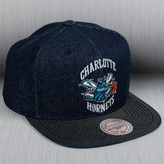 f650d9c64c86d Mitchell   Ness NBA Charlotte Hornets Raw Denim Snapback Cap