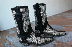 Nudie's Rodeo Tailors Rhinestone Velvet Boots NUDIE SUIT.NUDIE COWBOY BOOTS RARE