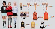 """kalewa-a:"""" Simblreen PackI KNOW. It's late. I got occupied with trying to find a desk for my self.anyway enjoy! I hope you all had a safe and wonderful time! Sims 4 Cas, Sims Cc, Harry Potter Hairstyles, Sims 4 Cc Shoes, Sims 4 Cc Makeup, Best Sims, Packing Clothes, Sims 4 Clothing, Female Clothing"""
